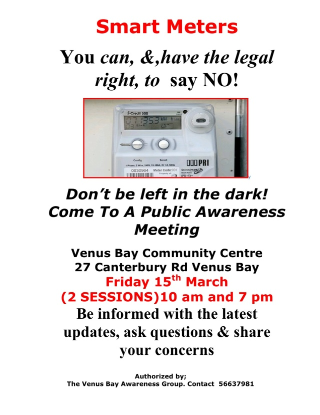 Venus Bay Smart Meter Meeting