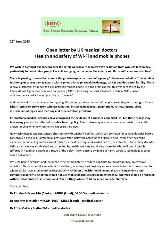 Open Letter from UK Doctors