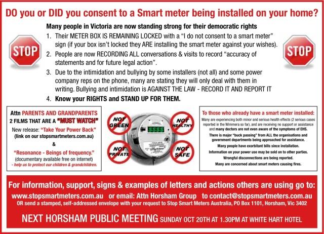 Advert in Advertiser stop smart meters 16 10 2013