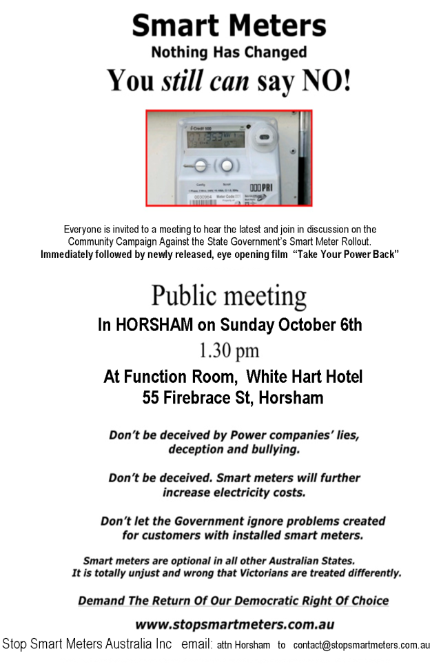 Horsham Public Meeting 06.10.13