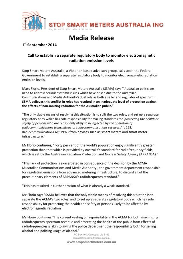 ACMA Media Release September 2014