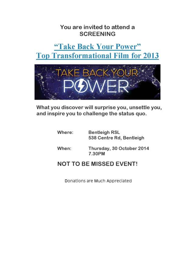 Take Back Your Power - Post