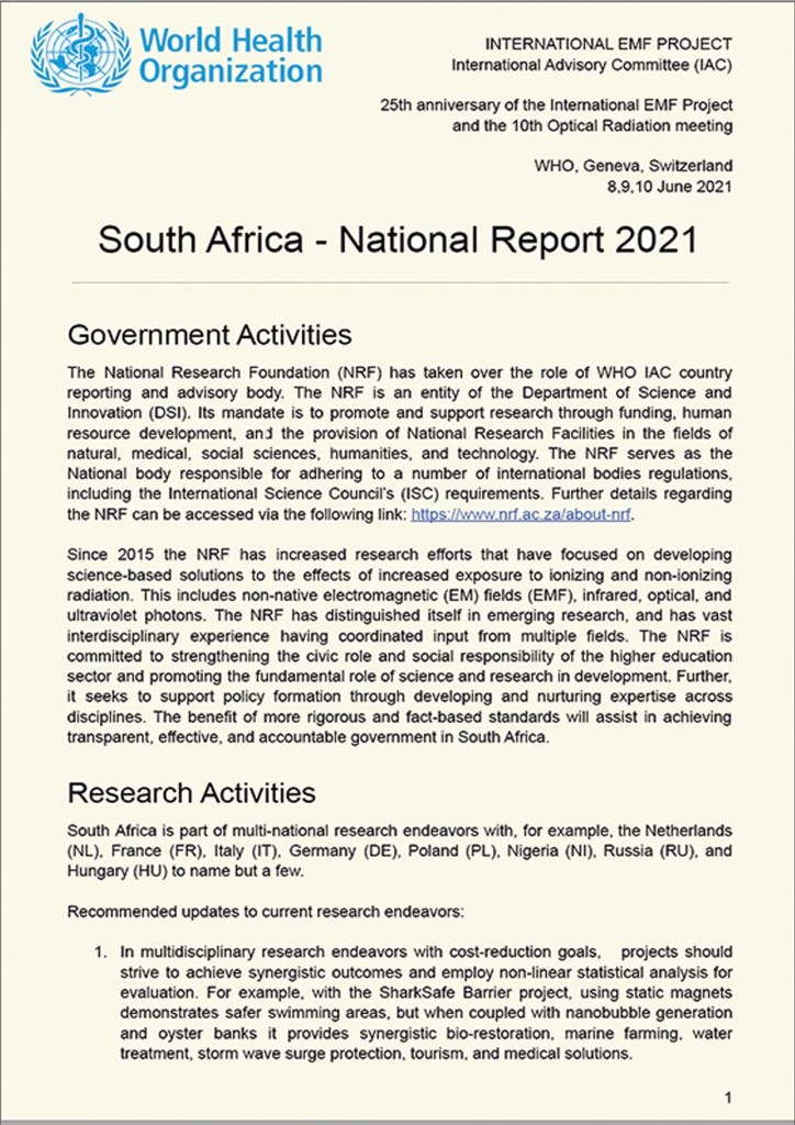 WHO South Africa National Report 2021